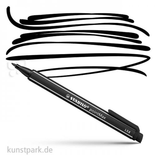 STABILO pointMax Filzschreiber Einzelstift | Schwarz