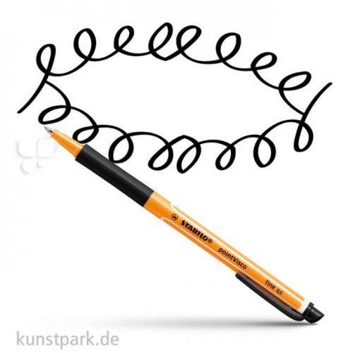 STABILO pointVisco Tintenroller Einzelstift | Schwarz