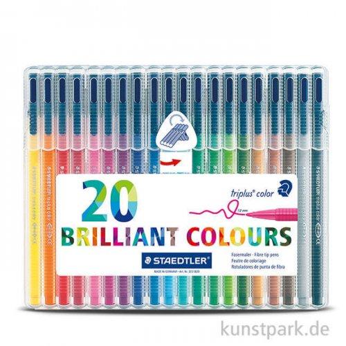 Staedtler Fasermaler triplus color 20er Set im Kunststoffetui