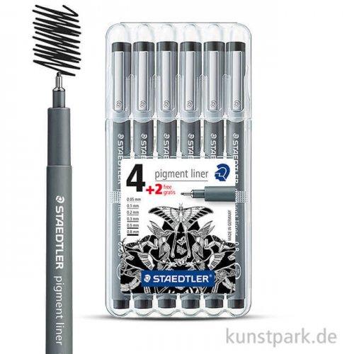 Staedtler Pigment Liner 6er Set  schwarz
