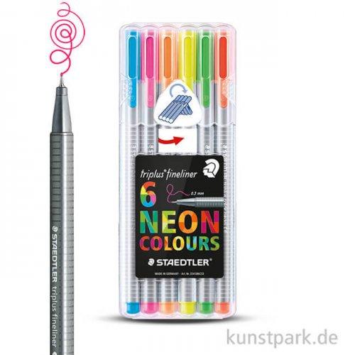 Staedtler triplus Fineliner 6er NeonSet im Kunststoffetui
