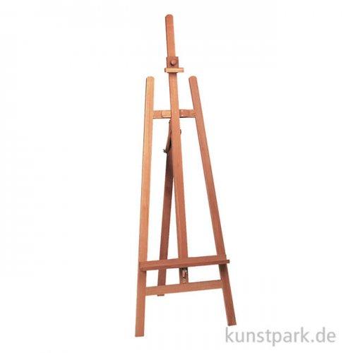 Staffelei FÖHR aus hellem Buchenholz mit Bildauflage und Bildhalter