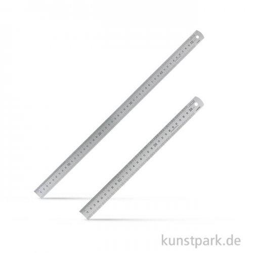 Stahlmaßstab mit Skalierung und Aufhängeloch 50 cm