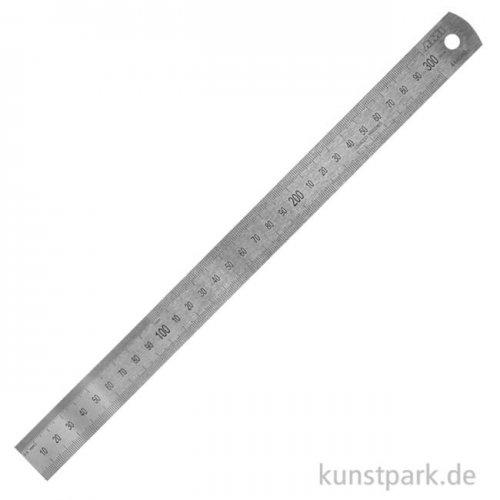 Stahlmaßstab mit Skalierung und Aufhängeloch 30 cm