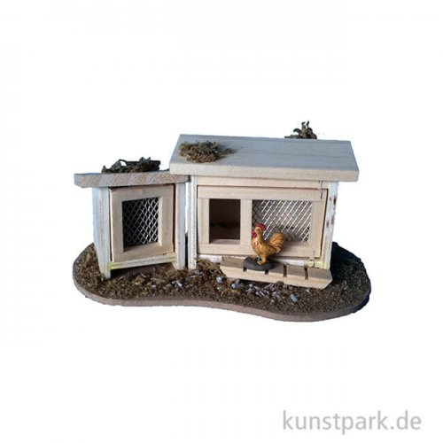Stall für Hasen und Hühner 14x8,5x6 cm