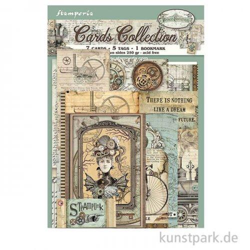 Stamperia Card Collection - Voyages Fantastiques