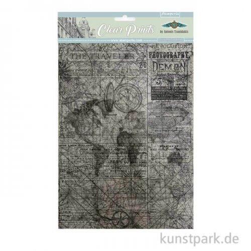 Stamperia Clear Prints - Sir Vagabond, DIN A4, 6 Blatt