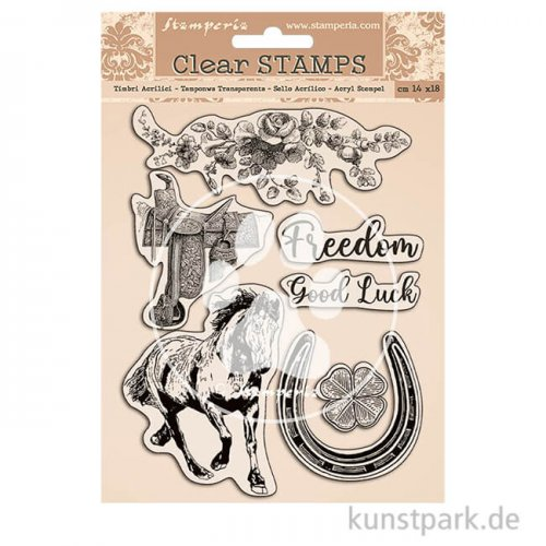Stamperia Clear Stamps - Romantic Horses, 14 x 18 cm