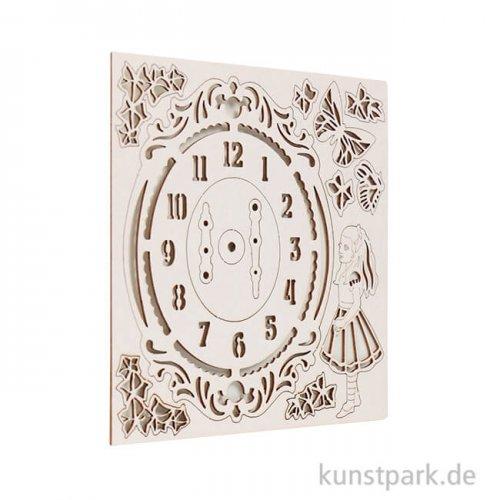 Stamperia Decorativ Chips - Alice Clock, 14 x 14 cm