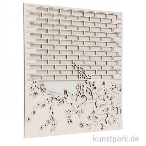 Stamperia Decorativ Chips - Alice Wall, 14 x 14 cm