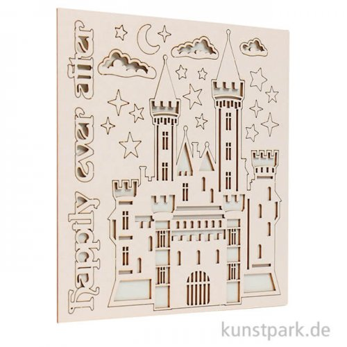 Stamperia Decorativ Chips - Sleeping Beauty Castle, 14 x 14 cm