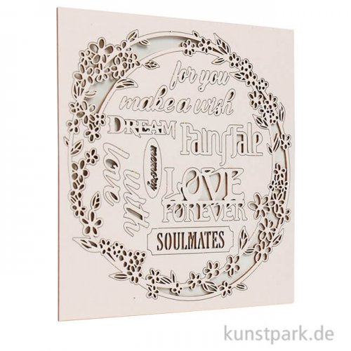 Stamperia Decorativ Chips - Sleeping Beauty Garland Love, 14 x 14 cm