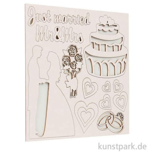 Stamperia Decorativ Chips - Sleeping Beauty Just Married, 14 x 14 cm
