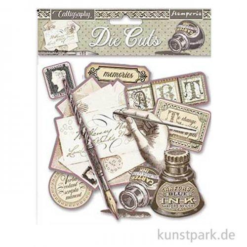 Stamperia Die Cuts - Calligraphy, 76 Stanzteile