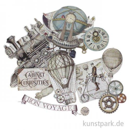 Stamperia Die Cuts - Voyages Fantastiques, 37 Stanzteile