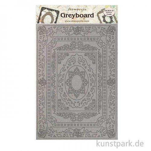 Stamperia Greyboard - Atelier Frames, DIN A4, 2 mm