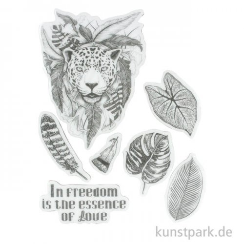 Stamperia Natural Rubber Stamp - Amazonia Jaguar