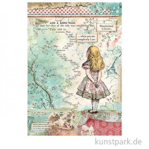 Stamperia Reispapier - Alice in Wonderland, DIN A4