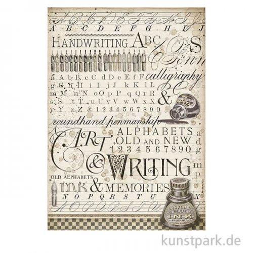 Stamperia Reispapier - Calligraphy Ink, DIN A4