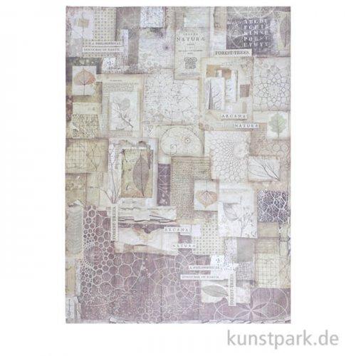 Stamperia Reispapier - Forest Frames, DIN A3
