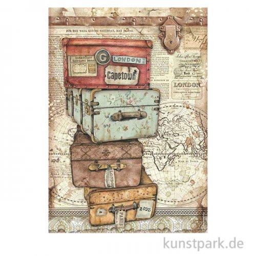 Stamperia Reispapier - Lady Vagabond Luggage, DIN A4