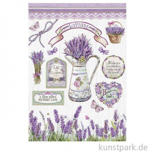 Stamperia Reispapier - Lavender, DIN A4
