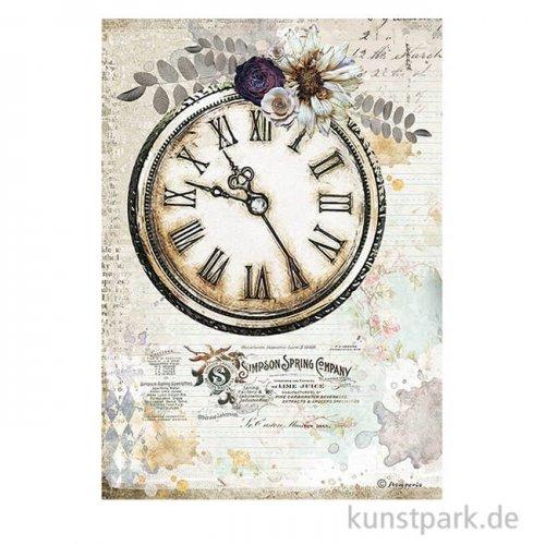 Stamperia Reispapier - Romantic Journal Clock DIN A4