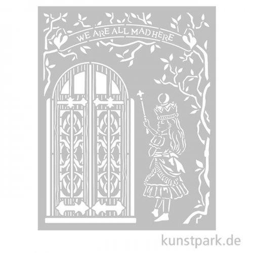 Stamperia Schablone - Alice Door, 20 x 25 cm