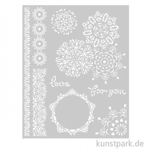 Stamperia Schablone - Passion Laces, 20 x 25 cm