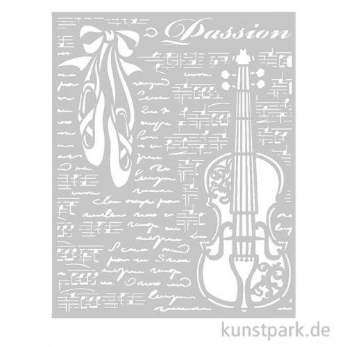 Stamperia Schablone - Passion Violin, 20 x 25 cm