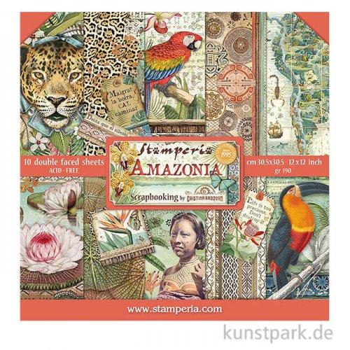Stamperia Scrapbooking Pad - Amazonia, 30,5 x 30,5 cm, 10 Blatt
