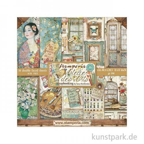Stamperia Scrapbooking Pad - Atelier des Arts, 20,3 x 20,3 cm, 10 Blatt