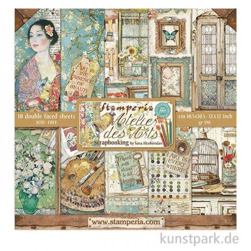 Stamperia Scrapbooking Pad - Atelier des Arts, 30,5 x 30,5 cm, 10 Blatt