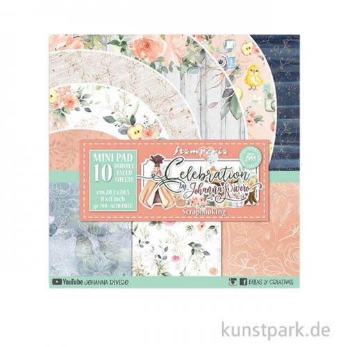 Stamperia Scrapbooking Pad - Celebration, 20,3 x 20,3 cm, 10 Blatt