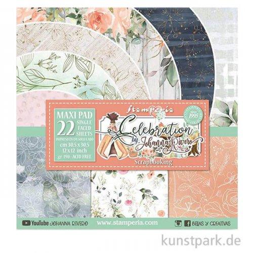 Stamperia Scrapbooking Pad - Celebration, 30,5 x 30,5 cm, 10 Blatt