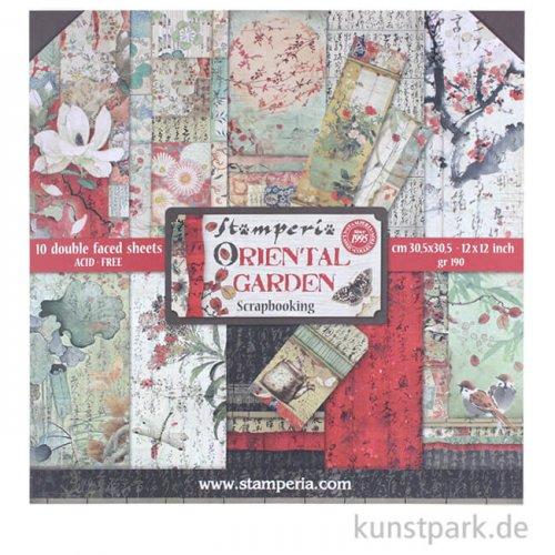 Stamperia Scrapbooking Pad - Oriental Garden, 30,5 x 30,5 cm, 10 Blatt