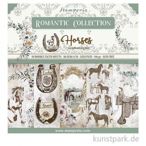 Stamperia Scrapbooking Pad - Romantic Horses, 30,5 x 30,5 cm