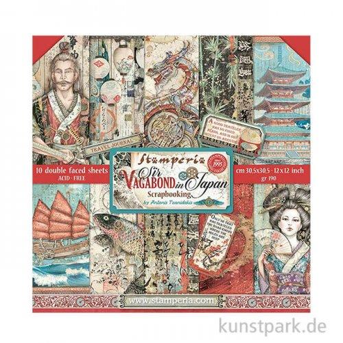 Stamperia Scrapbooking Pad - Sir Vagabond in Japan, 30,5 x 30,5 cm