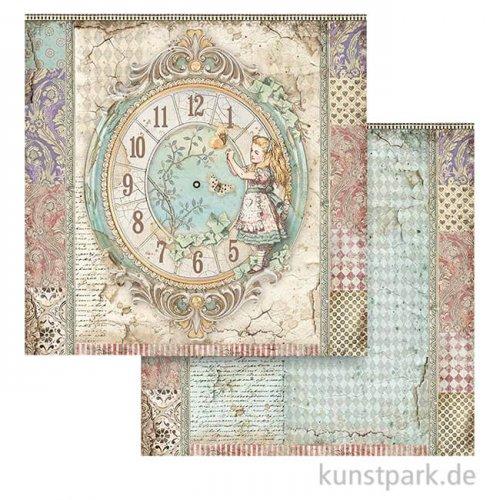 Stamperia Scrappapier - Alice Clock, 30,5x30,5 cm