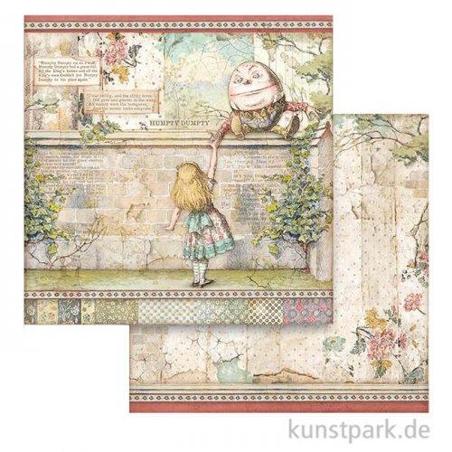 Stamperia Scrappapier - Alice Humpty Dumpty, 30,5x30,5 cm
