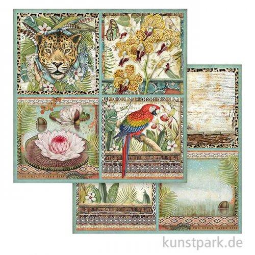 Stamperia Scrappapier - Amazonia Cards, 30,5x30,5 cm
