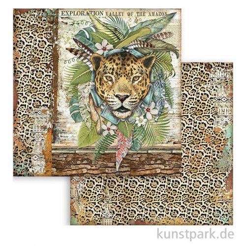 Stamperia Scrappapier - Amazonia Jaguar, 30,5x30,5 cm