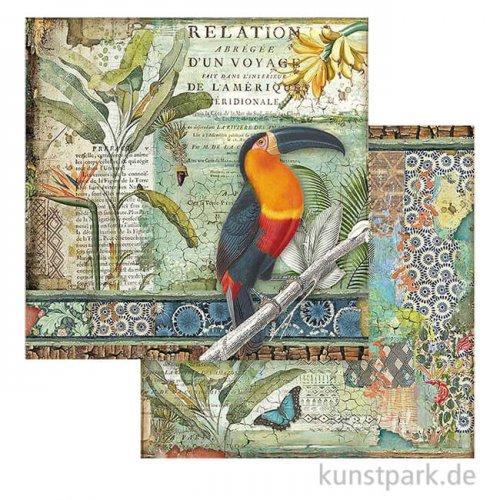 Stamperia Scrappapier - Amazonia Toucan, 30,5x30,5 cm
