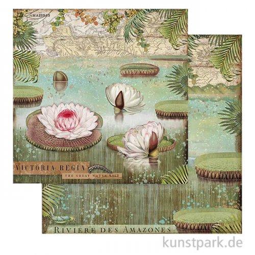 Stamperia Scrappapier - Amazonia Water Lily, 30,5x30,5 cm