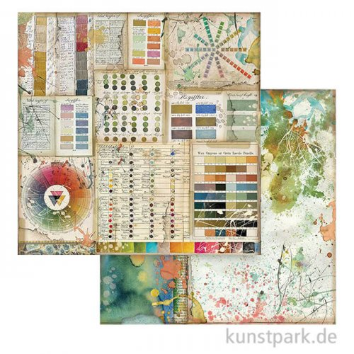 Stamperia Scrappapier - Atelier des Arts, Pantone, 30,5x30,5 cm