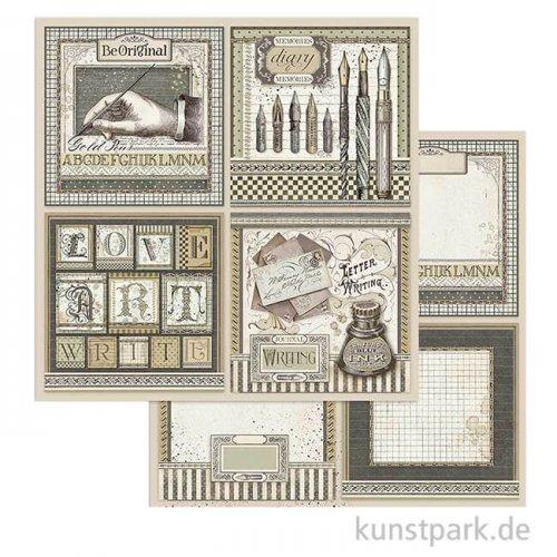 Stamperia Scrappapier - Calligraphy Cards, 30,5 x 30,5 cm