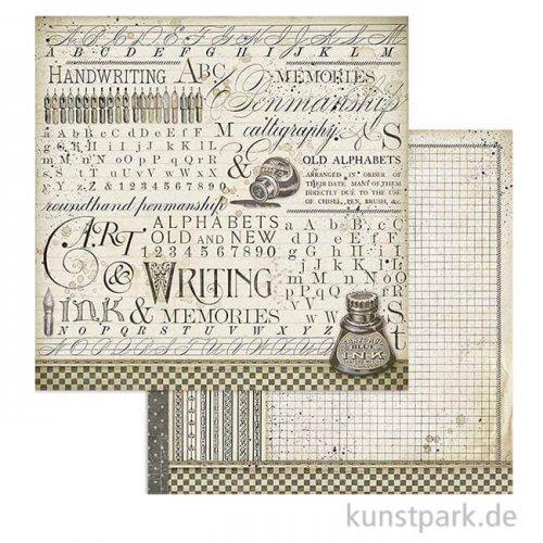 Stamperia Scrappapier - Calligraphy Ink, 30,5 x 30,5 cm,