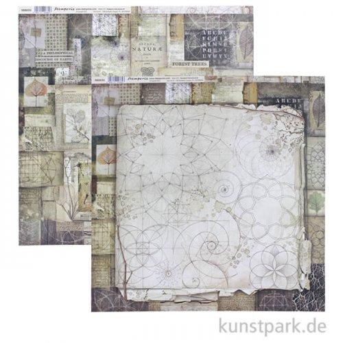 Stamperia Scrappapier - Forest Patchwork, 30,5 x 30,5 cm