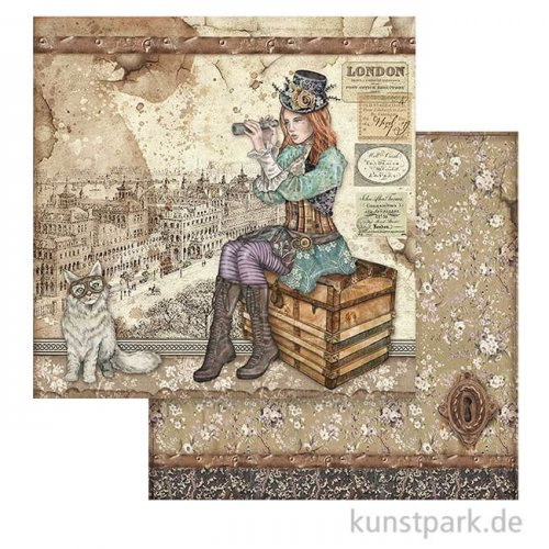 Stamperia Scrappapier - Lady Vagabond and Cat, 30,5 x 30,5 cm