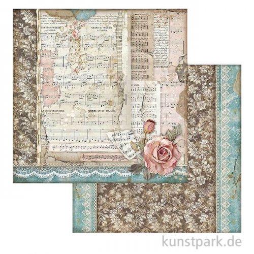 Stamperia Scrappapier - Passion Roses and Music, 30,5x30,5 cm
